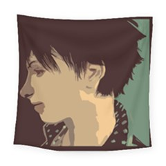 Punk Face Square Tapestry (large) by snowwhitegirl