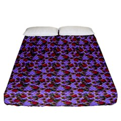Lazy Cat Floral Pattern Lilac Polka Fitted Sheet (california King Size)