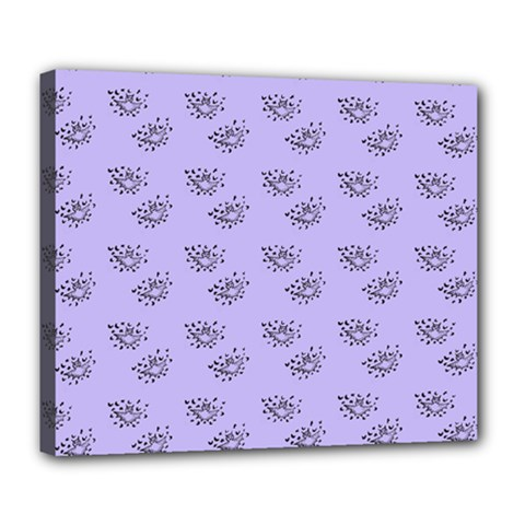 Zodiac Bat Lilac Deluxe Canvas 24  X 20  (stretched)