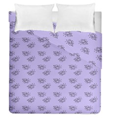 Zodiac Bat Lilac Duvet Cover Double Side (queen Size) by snowwhitegirl