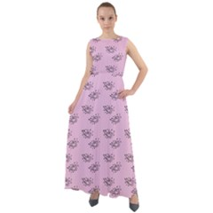 Zodiac Bat Pink Chiffon Mesh Maxi Dress