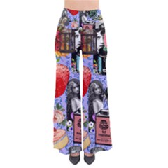 Vintage Girls Floral Collage So Vintage Palazzo Pants by snowwhitegirl