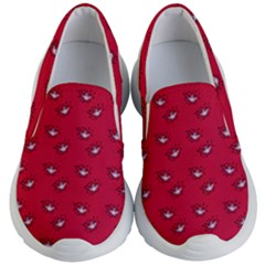 Zodiac Bat Pink Red Kids  Lightweight Slip Ons by snowwhitegirl
