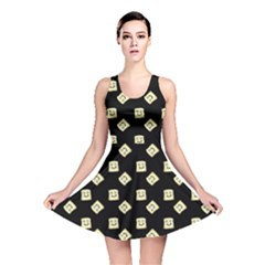 Happy Toast Black Reversible Skater Dress