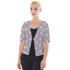 Happy Toast Grey Cropped Button Cardigan