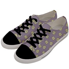 Happy Toast Grey Men s Low Top Canvas Sneakers by snowwhitegirl