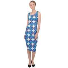 Geometric Dots Pattern Sleeveless Pencil Dress