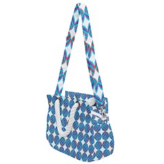 Geometric Dots Pattern Rope Handles Shoulder Strap Bag by Jojostore