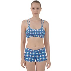 Geometric Dots Pattern Perfect Fit Gym Set by Jojostore