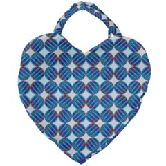 Geometric Dots Pattern Giant Heart Shaped Tote by Jojostore