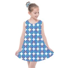 Geometric Dots Pattern Kids  Summer Dress by Jojostore