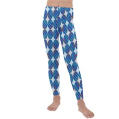 Geometric Dots Pattern Kids  Lightweight Velour Leggings by Jojostore