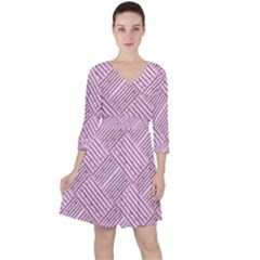 Wood Texture Diagonal Weave Pastel Ruffle Dress by Mariart