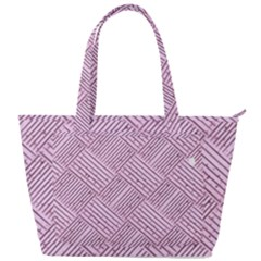 Wood Texture Diagonal Weave Pastel Back Pocket Shoulder Bag  by Mariart