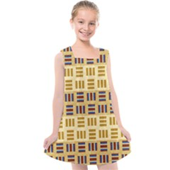 Texture Fabric Material Kids  Cross Back Dress by AnjaniArt