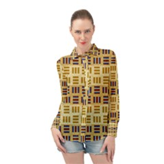 Texture Fabric Material Long Sleeve Chiffon Shirt by AnjaniArt