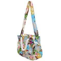 Rick And Morty Pattern Rope Handles Shoulder Strap Bag by Valentinaart