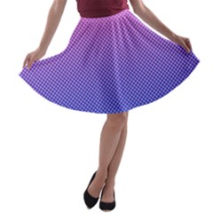 Dot Background Pattern Halftone A Line Skater Skirt