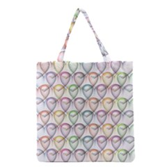 Valentine Hearts Grocery Tote Bag