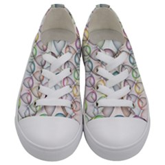 Valentine Hearts Kids  Low Top Canvas Sneakers