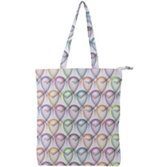 Valentine Hearts Double Zip Up Tote Bag