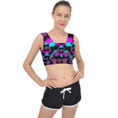 The Most Wonderful Flowers On The Festive Festivale V Back Sports Bra