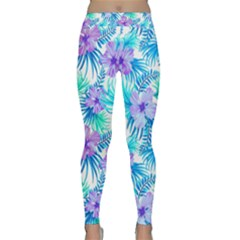 Fancy Tropical Floral Pattern Classic Yoga Leggings by tarastyle