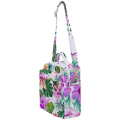 Fancy Tropical Floral Pattern Crossbody Day Bag by tarastyle