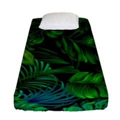 Fancy Tropical Floral Pattern Fitted Sheet (single Size) by tarastyle