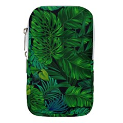 Fancy Tropical Floral Pattern Waist Pouch (small) by tarastyle