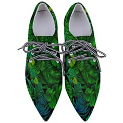 Fancy Tropical Floral Pattern Pointed Oxford Shoes by tarastyle