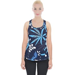 Fancy Tropical Floral Pattern Piece Up Tank Top by tarastyle