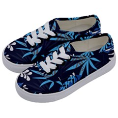Fancy Tropical Floral Pattern Kids  Classic Low Top Sneakers by tarastyle