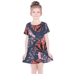 Fancy Tropical Floral Pattern Kids  Simple Cotton Dress by tarastyle