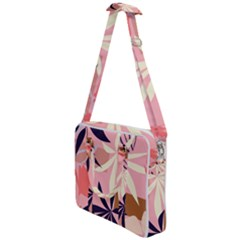 Fancy Tropical Floral Pattern Cross Body Office Bag
