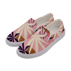 Fancy Tropical Floral Pattern Women s Canvas Slip Ons by tarastyle