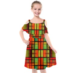 Ml 192 Kids  Cut Out Shoulders Chiffon Dress by ArtworkByPatrick