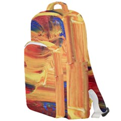 Rainbow Waves Double Compartment Backpack