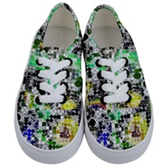 Funny Mix Of Shapes 2a Kids  Classic Low Top Sneakers