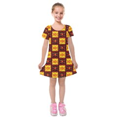 Abp Rby 3  Kids  Short Sleeve Velvet Dress by ArtworkByPatrick