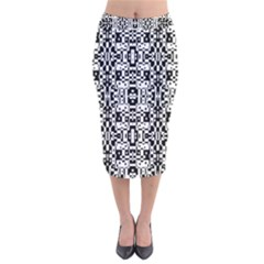 Bw 14 Velvet Midi Pencil Skirt