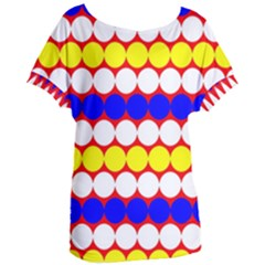 Dots 2 Colours Women s Oversized Tee