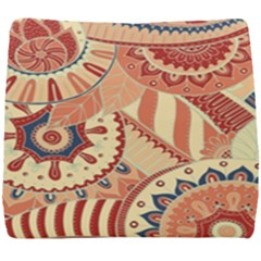 Pop Art Paisley Flowers Ornaments Multicolored 4 Seat Cushion by EDDArt