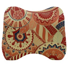 Pop Art Paisley Flowers Ornaments Multicolored 4 Velour Head Support Cushion