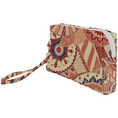 Pop Art Paisley Flowers Ornaments Multicolored 4 Wristlet Pouch Bag (small)