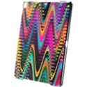 Multicolored Wave Distortion Zigzag Chevrons 2 Background Color Solid Black Apple iPad Pro 10.5   Black UV Print Case View1
