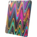 Multicolored Wave Distortion Zigzag Chevrons 2 Background Color Solid Black Apple iPad Pro 12.9   Black UV Print Case View1