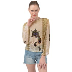 The Fantasy Eye, Mandala Design Banded Bottom Chiffon Top by FantasyWorld7