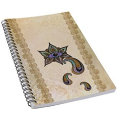 The Fantasy Eye, Mandala Design 5 5  X 8 5  Notebook by FantasyWorld7