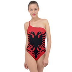 Albania Flag Classic One Shoulder Swimsuit by FlagGallery